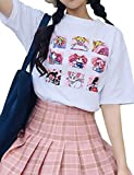 ALTcompluser Anime Sailor Moon T-Shirt Kurzarmshirt Sommer Top Print Shirt Casual O-Neck(S)