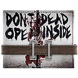 Walking Dead Öffnen sie nicht Strap Buttoned Grau Portemonnaie Geldbörse