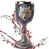 Deko Kelch'White Wolve' - Weißer Wolf vor Sternenhimmel - Fantasy