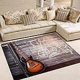 Use7 Teppich für Wohnzimmer, Schlafzimmer, Musikbereich, 160 x 122 cm