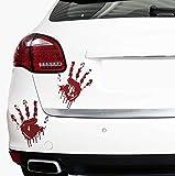 Finest Folia 2 Blutige Hände je 22cm Blutspuren Aufkleber Auto Sticker Frontscheibenaufkleber (2er Set Blutige Hände)
