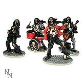 Nemesis Now (Set Four Figurine Ivory One Hell of A Band 4 Figuren 10cm Elfenbein, elfenbeinfarben, Einheitsgröße