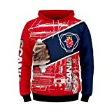 Cronell Story Unisex Langarm Hoodie 3D Digital International Scania Logo Print Sweatshirt Lässiges Sweatshirt (1,XL)