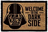 1art1 Star Wars - Darth Vader, Willkommen Auf Der Dunklen Seite | Fußmatte Innenbereich und Außenbereich | Design Türmatte 60 x 40 cm