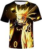 FLYCHEN Jungen T-Shirt Japanese Anime Naruto T-Shirt 3D Cosplay Tops (M,Fliegender Donner51)